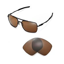 Walleva Polarized Brown Replacement Lenses for Oakley Deviation Sunglasses