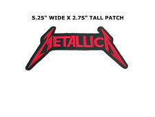 IRON -ON Embroidered Patch METALLICA MUSIC ROCK BAND