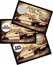 POLICE OFFICER/COP PERSONLIZED SCRATCH OFFS RETIREMENT PARTY GAMES CARDS FAVORS
