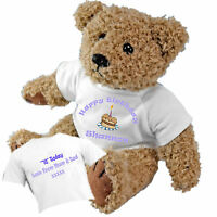 Happy Birthday Personalised Teddy Bear - Add a Birthday Message to the Back GIFT