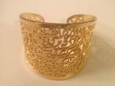 Ayatul Kursi Stunning Calligraphy Bracelet Islamic Art 24K Gold Plated Brass