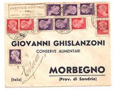 1946   LUOGOTENENZA BELLISSIMA AFFRANCATURA ESPRESSO DA MILANO A MORBEGNO