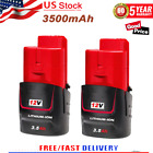 2 Pack NEW 3.5Ah For MILWAUKEE M12 48-11-2401 12V Lithium Ion Battery 48-11-2420