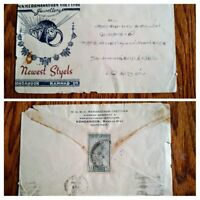"""RARE INDIA 1947 """"INDEPENDENCE"""" 1ST STAMP ON COVER EARLY USAGE UNIQUE HARD TO FIN"""