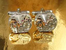 Steampunk Punk Cufflinks clock cufflinks vintage watch movements