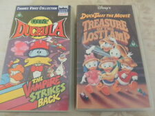 Count Duckula the Vampire Strikes back, Duck Tails Treasure of the lost Lamp VHS