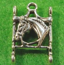 5Pcs. Tibetan Silver HORSE In Horse Bit  Beautiful Pendants Charms Findings HR27
