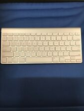 Apple Keyboard Silver Wireless Bluetooth Portable Model # A1314
