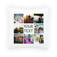 Personalised Photo Pillowcase Cushion INSERT 8 pictures + Text