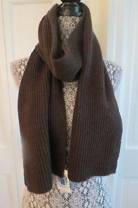 Portolano Merino Wool Ribbed Scarf – Brown Melange– NWT - $165