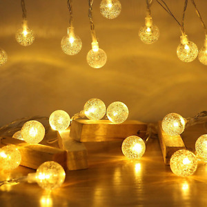 Globe String Lights, 7.2M 50LED Globe Fairy Lights with USB Powered Indoor for