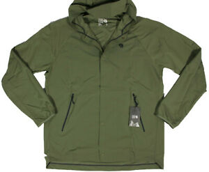 MOUNTAIN HARDWEAR Railay shirt Jacket- L- NEW -raglan Army windbreaker coat-$125