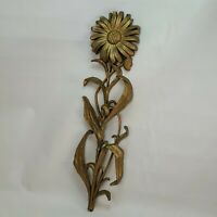 VTG HOMCO HOME INTERIORS LARGE GOLD SYROCO SUNFLOWER PLANTER WALL DECO italy