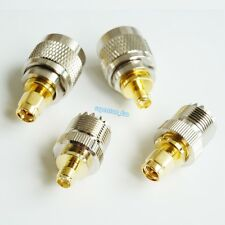 4Pcs/SET PL-259 UHF Connector Kits SO-239 To SMA Male Female Coaxial RF Adapter