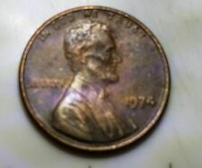 1974 Lincoln Memorial Cent-DDR errors- on Back-Toned
