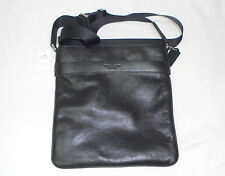 Coach F71842 Bowery Black Leather Crossbody Messenger Shoulder Bag JM1 NWT $295