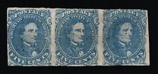 GENUINE CONFEDERATE CSA SCOTT #4 STONE-2 STRIP-3 PLATED POSTION 41 42 43 MINT NG