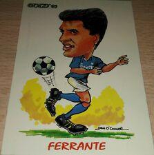 CARD GOLD 1993 NAPOLI FERRANTE CARICATURA CALCIO FOOTBALL SOCCER ALBUM