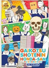 DVD Anime Skull-face Bookseller Honda-san Complete TV Series (1-12) English Sub