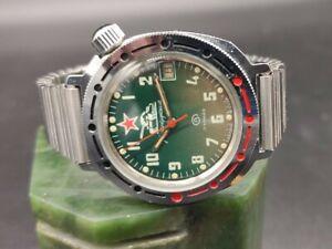 Russian Military Soviet watch CCCP USSR Komandirskie Wostok Vostok Army not work