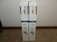 "New Sealed Lot of 2 Cannon 2"" Faux Wood Blinds Child Safe Wand ~ White 23"" x 64"""