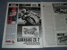 """1989 Kawasaki ZX-7 Vintage Info Article """"Back into the Production-Racer Arena"""""""