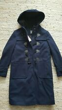 NAVY DARK BLUE PRIMARK DUFFLE COAT QUILTED INSIDE WITH HOOD UK 6 BNWT