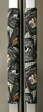 Refrigerator Oven Door Padded Handle Covers Country Farm Fresh Set of Two