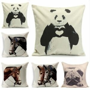 18 Inch Animal Linen Sofa Cushion Cover Car Bedroom Cushion Cover Without Pillow