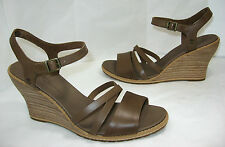 New Timberland Earthkeepers Maeslin size 9.5 Mocha Brown Leather Wedge Sandals
