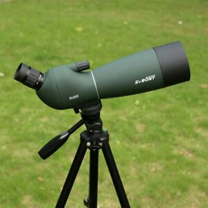 Spotting Scope SVBONY SV28 25-75x70mm Zoom Angled Telescope + Tripod + Adapter