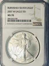 2007-W  American Silver Eagle - NGC MS-70 -  Mint State 70 - Burnished
