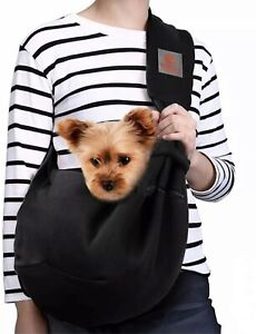 TOMKAS Pets Carrier Small Dog Puppy Cat Sling Hands Free Strap Reversible 10 lbs