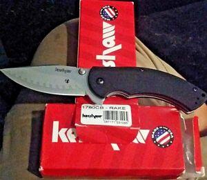 KERSHAW 🇺🇸 1780CB RAKE COMPOSITE  ASSISTED KNIFE D2/14C28N STEELS W/G10 HANDLE