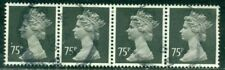 Great Britain Sg-X993, Scott # Mh-164 Machin Strip Of 4, Used, Great Price!