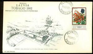 REMEMBER LATVIA 5.LATVIAN COURLANDER GATHERING TOBAGO 1982 EVENT COVER TRINIDAD