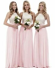 Long Chiffon Lace Evening Formal Party Ball Gown Prom Bridesmaid Dress 6~22 New