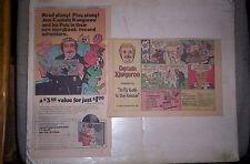 2 Captain Kangaroo 1970 Sunday Comic Ads