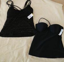 Bongo and Old Navy Tankini Bathing suit tops- black