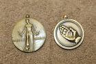 Original WW2 U.S. Victory Medal & Humanitarian Medal Lot, No Rings & No Ribbons