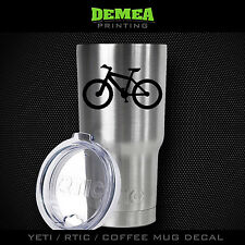 "Mountain Bike - 3"" DECAL/STICKER for Yeti/Rtic//Tumbler/Coffee/Wine"