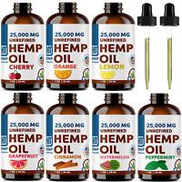 1 OZ Hemp Oil For Pain Relief Anxiety, Sleep 25,000 mg VARIATIONS