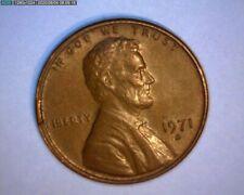 1971 D  LINCOLN CENT,  DIE BREAK,  OBVERSE RIM CUD, >RARE< US ERROR COIN