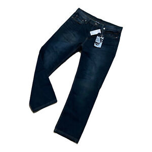 New Men's BADBOY denim jeans size W36 L31 blue zip fly cotton blend straight leg