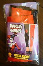 Womens Halloween Harley Quinn Thigh High Footless Cosplay Costume Stockings
