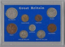 More details for cased 1946 george vi set of 9 coins in good fine or better condition