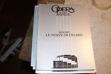 Programme de l'Opéra Bastille de paris mozart le nozze di figaro
