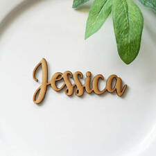 Laser Cut Wooden MDF Name Place Cards for Weddings Functions and Dinner Parties