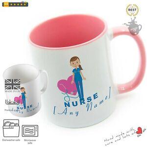 NURSE MUG - Personalised Gift Nurse Mug Cup Blue Dress Hospital Medical Student