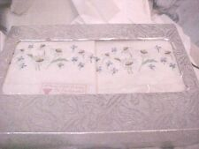 "Vintage ""VICTORY"" Embroidered QUALITY Pillowcases SILVER LAME BOX ELEGANT  414"